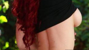 الاستمناء رائع من امرأة جبهة مورو أحمر الشعر